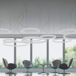lumineux luminaire Giotto slide design location suspensions lumière éclairage toulouse bordeaux marseille lille limoge France paris Montpellier